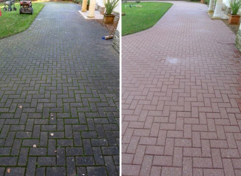 Jet Wash Drive Path Patio